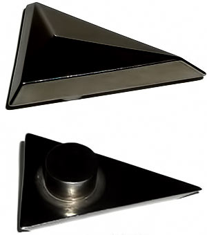 Pinewood Derby Car Black Tungsten Triangle Canopy Weight