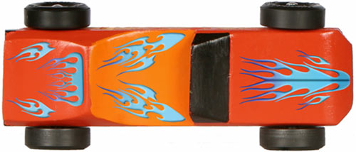 Pinewood Derby Car Flames Decals