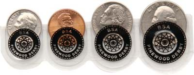 Pinewood Derby Coin Pockets