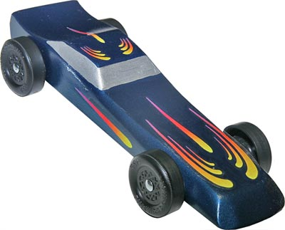 Comet Decal For Pinewood Derby Cars