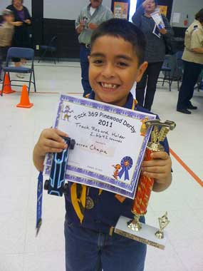 Pinewood Derby Winner