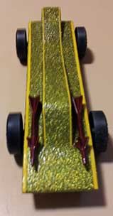 Missiles on pinewood derby car