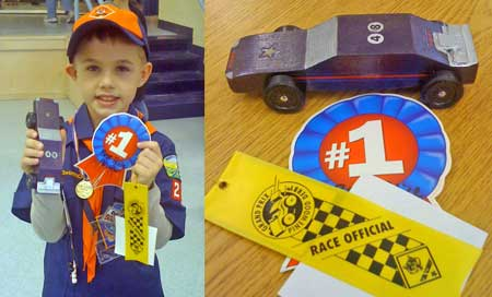 Pinewood Derby First Place
