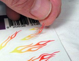 select flames decal