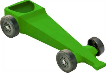Example of a completed dragster car