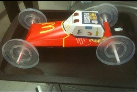 fast food pinewood derby car