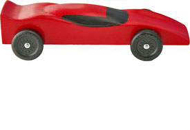 Pinewood derby ferrari