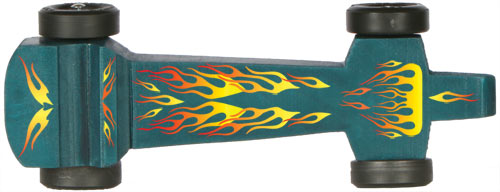 Pinewood Derby Car with flame decal