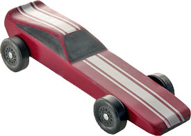 Example of completed funnycar