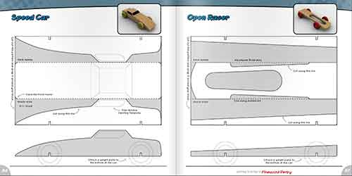 Getting started in the pinewood derby book for Pine wood derby car templates