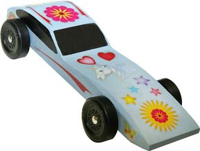 Girls Pinewood Derby Decal