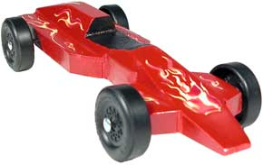 Example of completed Grand Prix pinewood derby car
