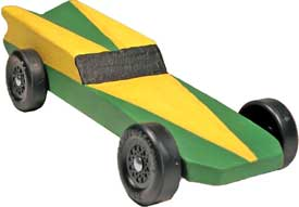 Hornet Pinewood Derby Car Front View