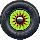 Pinewood Derby Car Wheel Decal Kaleidoscope