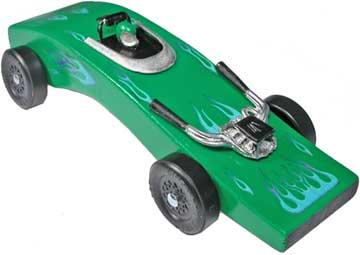 Green Python Pinewood Derby Car Kit