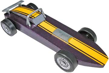 Purple Comet Pinewood Derby Car Kit