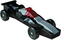 Black/Gray Lego kit for pinewood derby cars