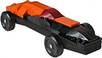 Orange - Black Lego Pinewood Derby Car