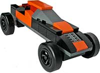 Black/Orange Lego Car Kit