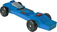 Blue lego car kit