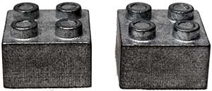 Zinc LEGO Brick Weights