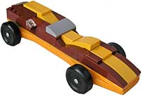 Brown Lego kit for pinewood derby cars
