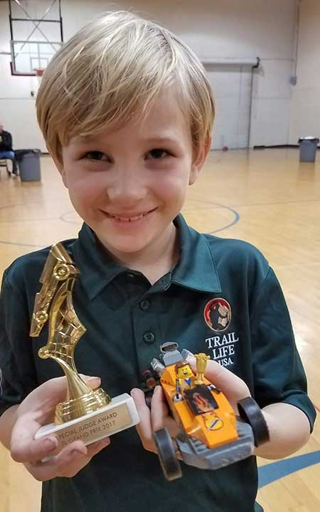 Judge's Choice winner for LEGO pinewood derby car