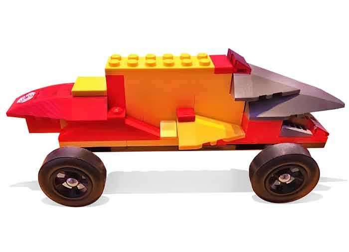 Extra Long LEGO Pinewood Derby Car