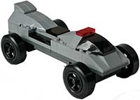Gray lego car kit