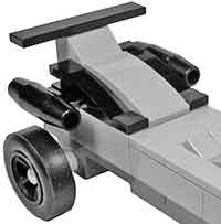 Lego jet engine on pinewood derby car
