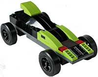 Lime-Black Lego Car Kit