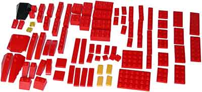 Lego pinewood derby car parts