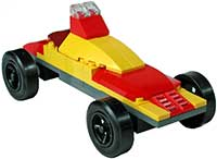 Red-Yellow Lego Car Kit
