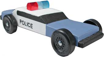 Police light bar for pinewood derby cars police pinewood derby car light bar aloadofball Gallery