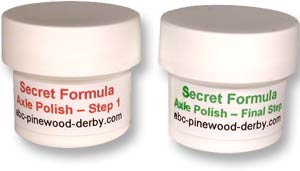 Axle Polish for Pinewood Derby Cars