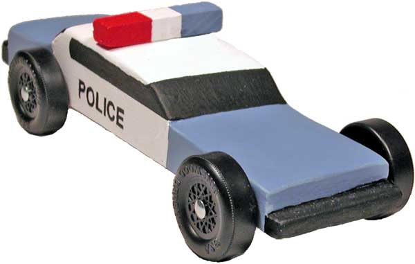 Police Car Pinewood Derby Car Design