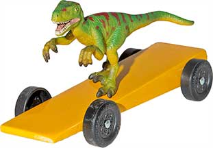 Raptor pinewood derby car