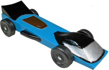 Blue Raven Pinewood Derby Car