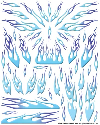 Blue Flames Decals