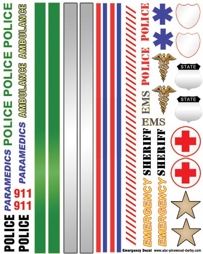 Police / Emergency Decals