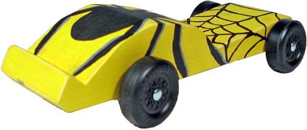 spider pinewood derby car design