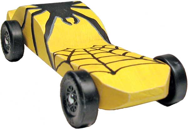 Spider Pinewood Derby Car