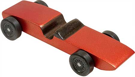 Completed Sport Coupe pinewood derby car