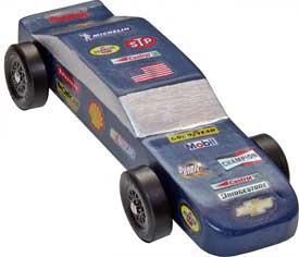 NASCAR Pinewood Derby Car Decal