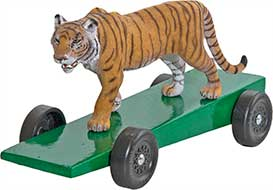 Tiger pinewood derby car