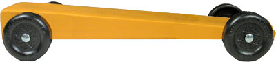 Extended wedge painted yellow